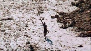 A Sentinelese (Copyright: Indian coastguard/Survival)