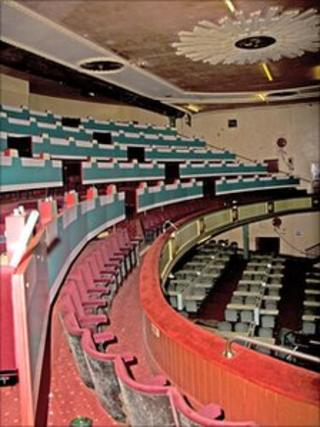 Interior of former Workington opera house