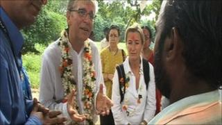 Ikea's chief executive Mikael Ohlsson meets Indian villagers