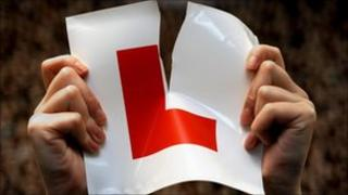 A learner driver rips up her L plate