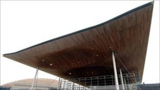 Welsh assembly building in Cardiff Bay