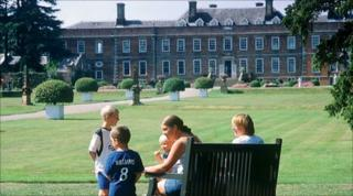 A family at Erddig Country House and Gardens, Wrexham