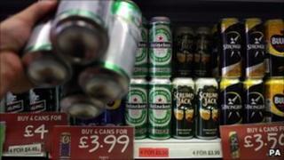 alcohol of shopping shelf