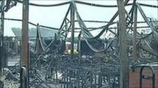 Campsmount Technology College fire damage