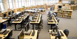 US school library (Thinkstock)