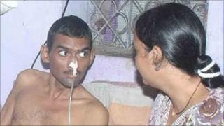 Shyamsundar Choudhary with Baby Choudhary