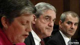 Janet Napolitano, Robert Mueller and Michael Leiter