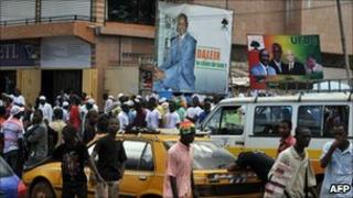 Election posters in Conakry (18 September 2010)