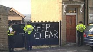 Crime scene in Thorn Street