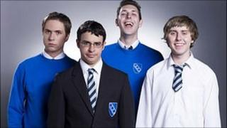 Inbetweeners stars Joe Thomas, Simon Bird, Blake Harrison and James Buckley