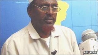 Hizbul Islam leader Sheikh Hassan Dahir Aweys at the GBC station