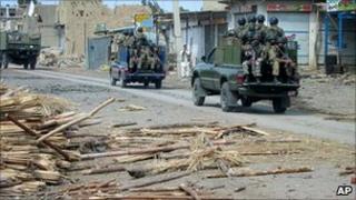 Pakistani military vehicles