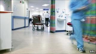 A hospital emergency ward