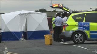 Scene of the incident in Tunbridge