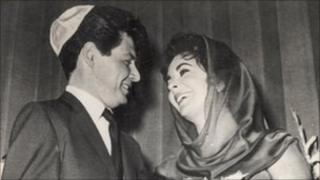 Eddie Fisher on the day of his wedding to Elizabeth Taylor in 1959