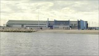 The Weymouth and Portland Olympic sailing venue at Osprey Quay