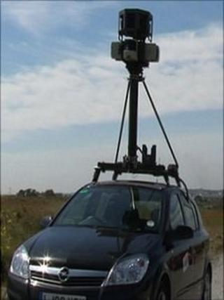 Google Street View camera in Guernsey