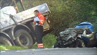 B9077 fatal crash scene
