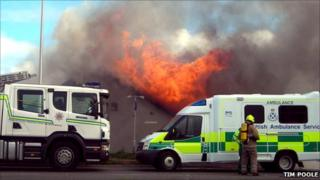 Portlethen fire scene (Pic by Timothy Poole)