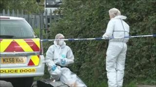 Forensic team at Heaton Park