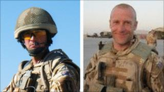 Col Sgt Paul Baines (L) and WO Andrew Goodwin (R)