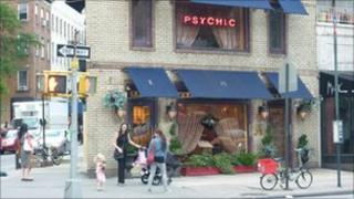 A psychic's storefront