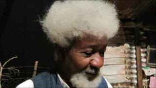 Wole Soyinka on a visit to South Africa (file pic)