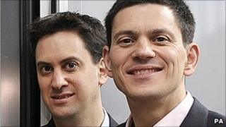 Ed (left) and David Miliband