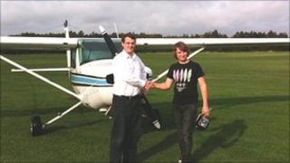 Sam Rayworth and instructor Paul Jones