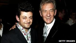 Andy Serkis (left) and Sir Ian McKellen