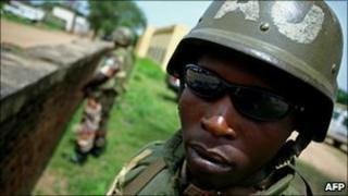 Rwandan peacekeeper in Sudan