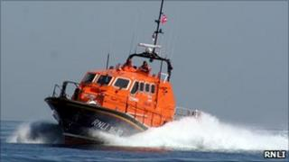 RNLI's Tamar lifeboat at St Helier