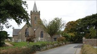 St Saviour's Church and the road where the body was found