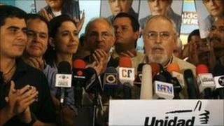 MUD members celebrate in Caracas. Photo: 27 September 2010