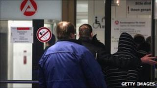 Queue of German unemployed