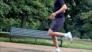 Jogger in a London park