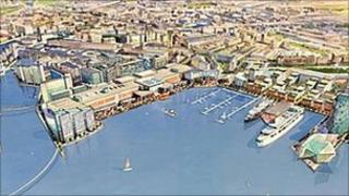 The Harbour, Leith Docks (Artist impression)