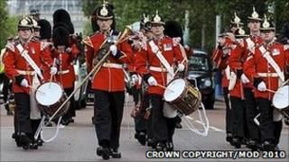 Marching military band