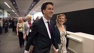 Ed Miliband with partner Justine