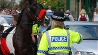 Police at Appleby Horse Fair
