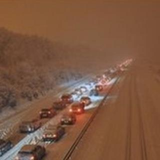 Traffic on the A3(M) northbound in Horndean, Hampshire (picture by Tracey Pereira)