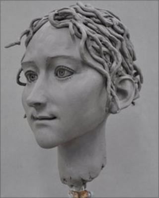 Life-sized model of Godiva's head in 2012