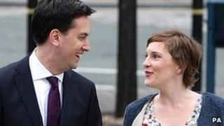 Ed Miliband with Justine Thornton