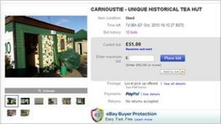 Tea Hut eBay listing