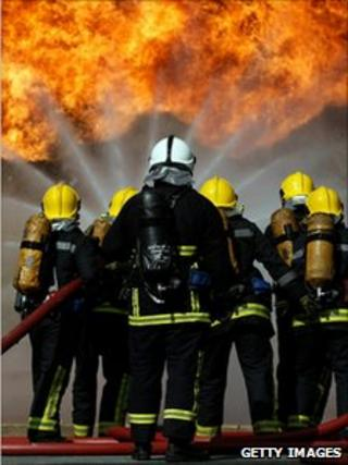 Firefighters training on Merseyside