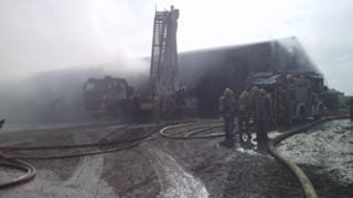 Fire at Market Drayton barn