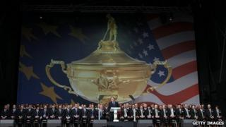 The opening ceremony of the Ryder Cup
