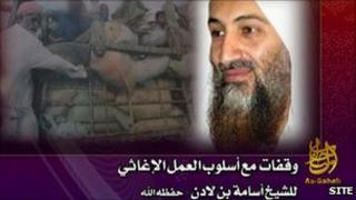 Still image from 'Bin Laden' tape - image from Site