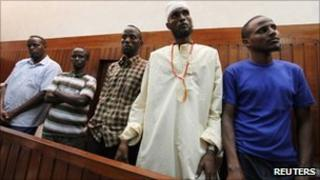 Somalis accused of piracy, in Mombasa court 23 September