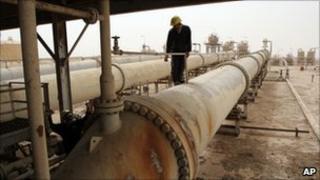Oil pipeline in Iraq